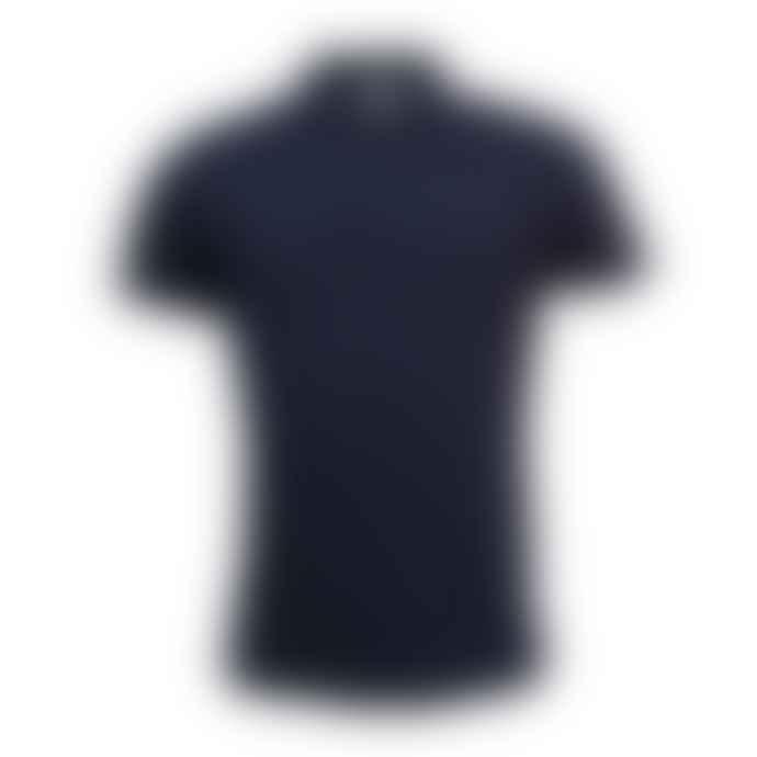 Sunspel Riviera S S Polo Shirt Navy
