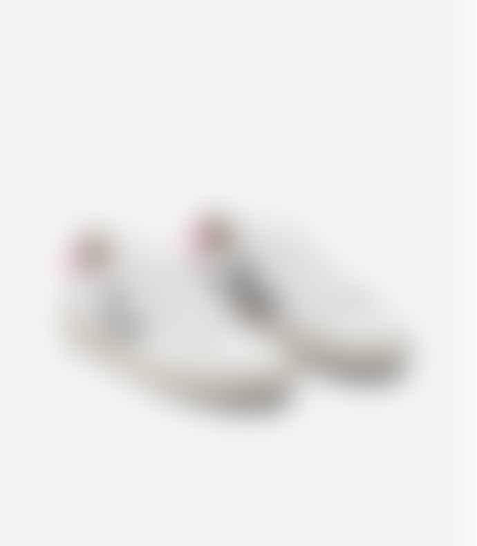 Veja Women V 12 Trainer Shoes Leather Extra White Oxford Grey Sari