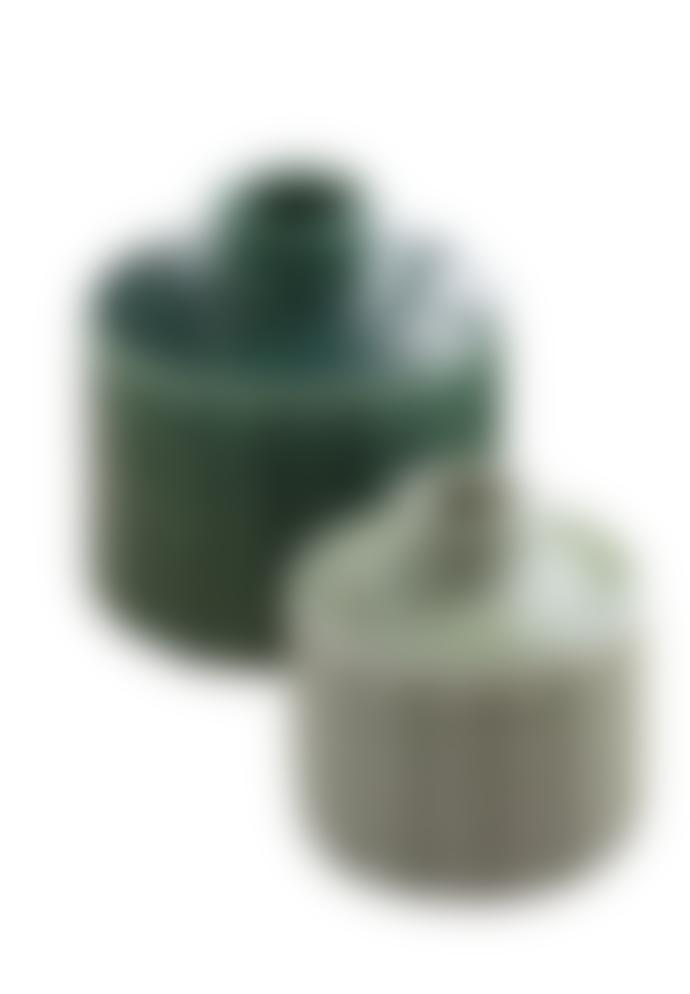 Madeleine & Gustave 2 Green Sorrento vases