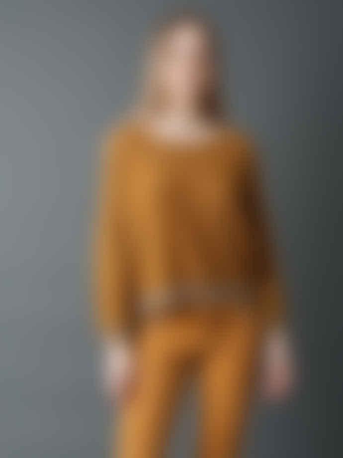 Indi & Cold Gold Trim Ocre Sweater