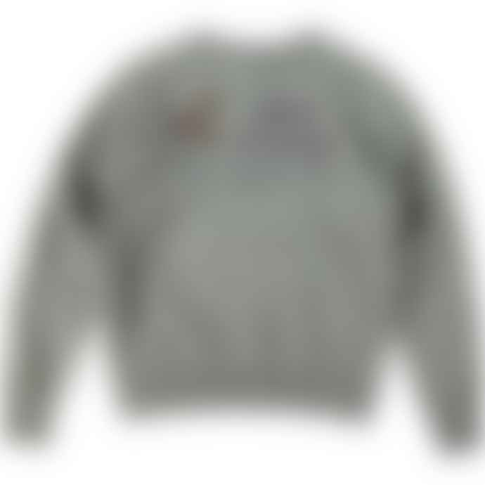 Buzz Rickson's Heather Grey X Peanuts Snoopy Naval Air Station Sweatshirt