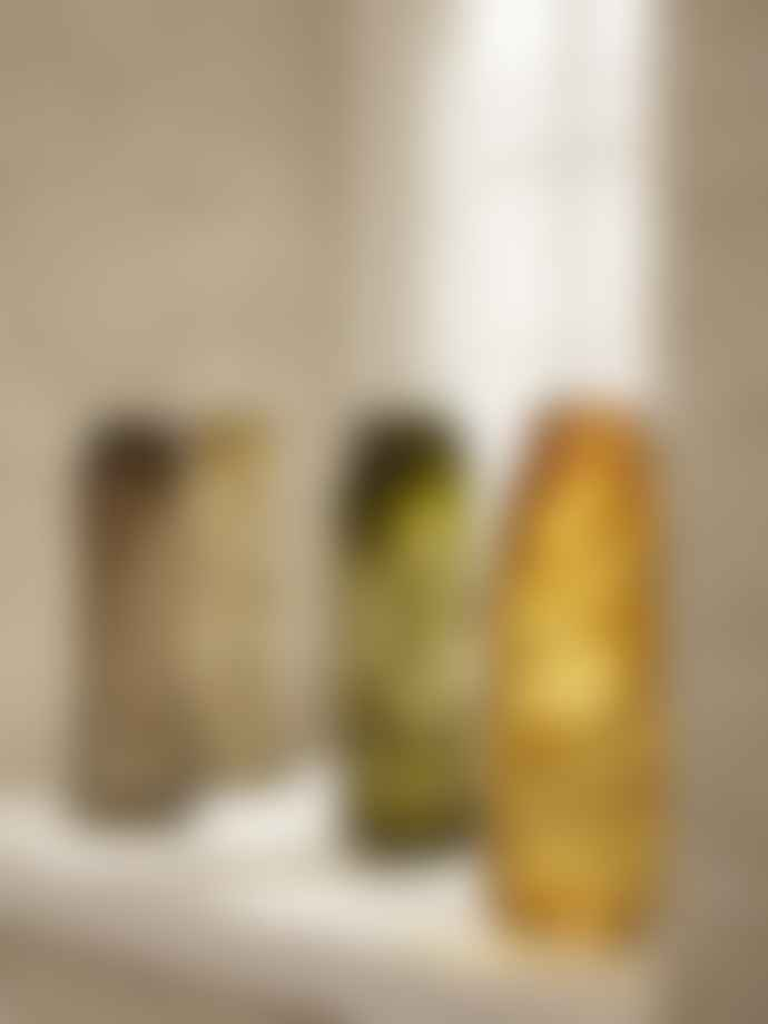 Ferm Living Water Swirl Vase Mouthblown Glass Yellow