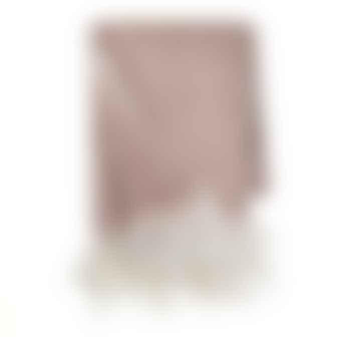Cozy Living Rouge Pink Herringbone Mohair Throw