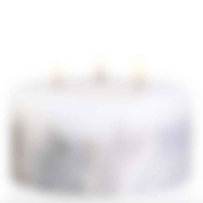 stoneglow White Cashmere Pear Three Wick Pillar Candle