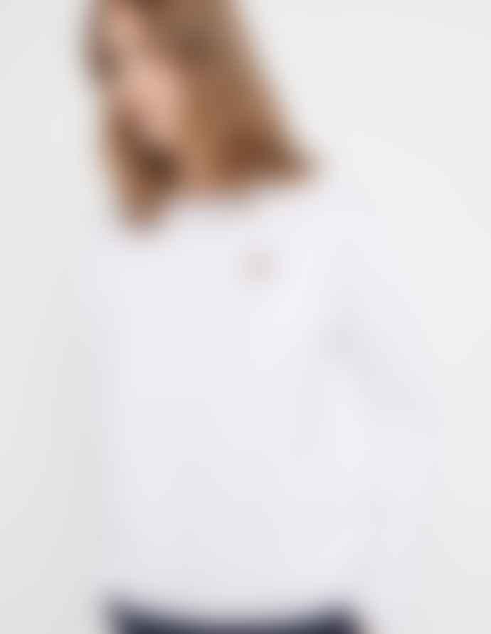 Maison Kitsune White Fox Head Patch Long Sleeved T Shirt