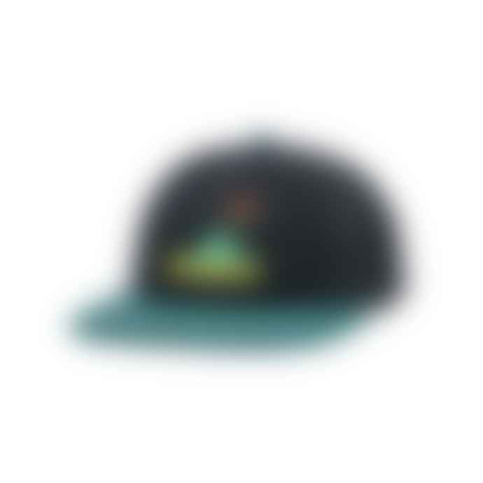 Butter Goods Frog 6 Panel Cap Black Teal