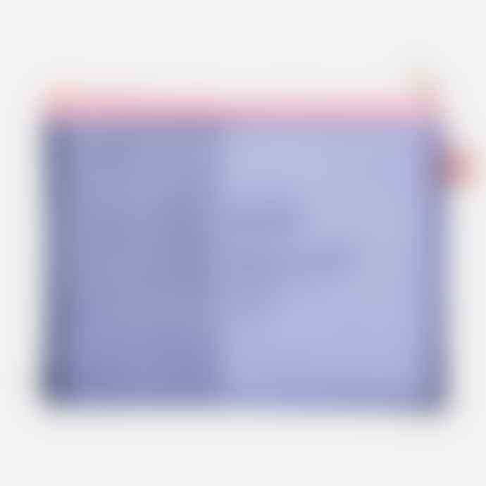 Papier Tigre Blue and Pink Mesh Medium Pouch