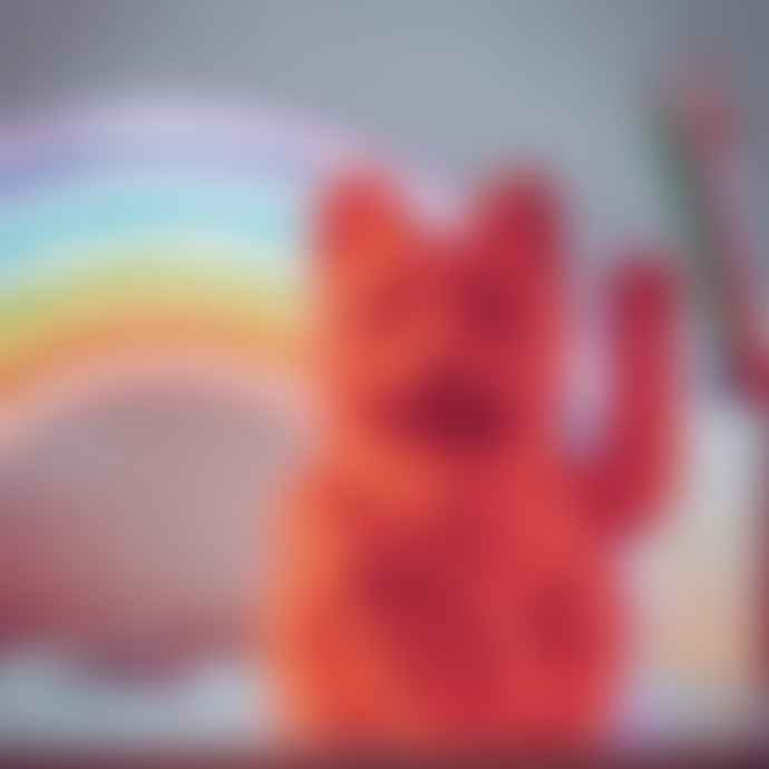 Donkey Products Lucky Cat Neon Pink