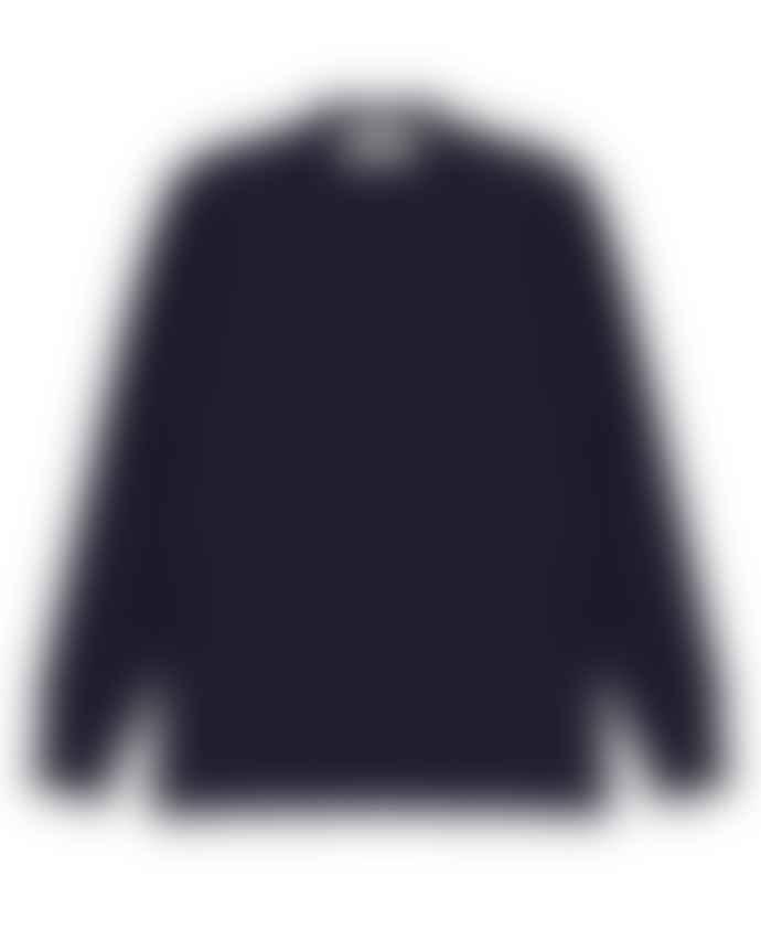Outland Pull Erquy Navy Melange Virgin Wool Last Piece