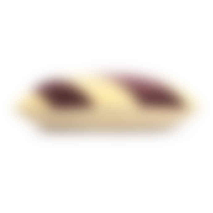 HKliving Striped Cushion Velvet Yellow/Purple (40x60)