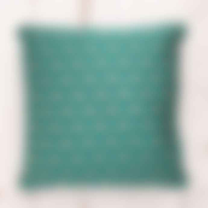 Gisela Graham Jacquard Bee Cushion – Green