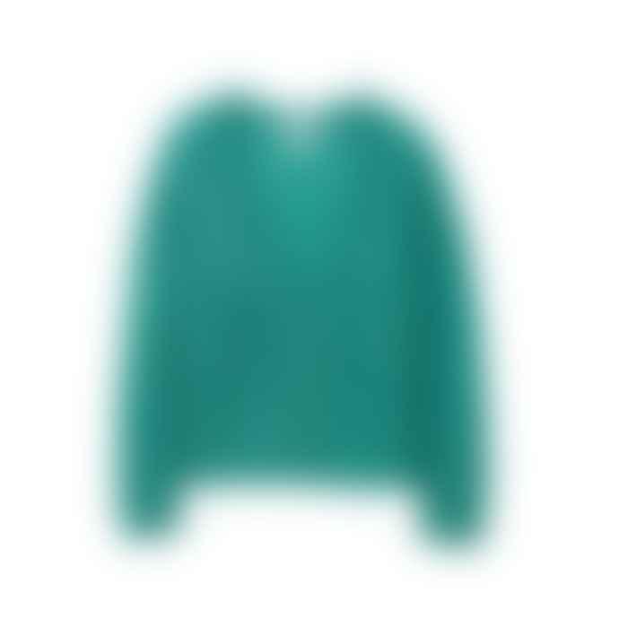 Les Tricots de Lea Mohair Luxury Cardigan Gasmina Emerald Green