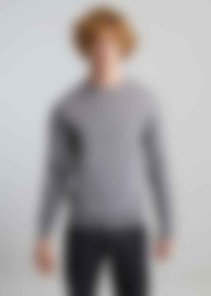 L'Exception Paris Light Grey Merino Wool Jumper