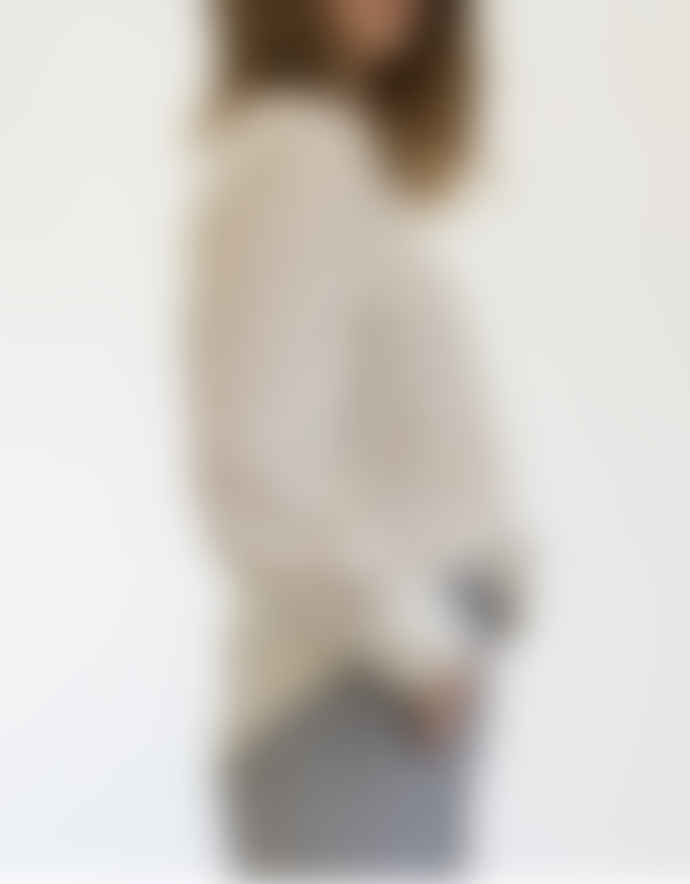 Busby & Fox Cream Jasmin Linen Mix Chcek Shirt