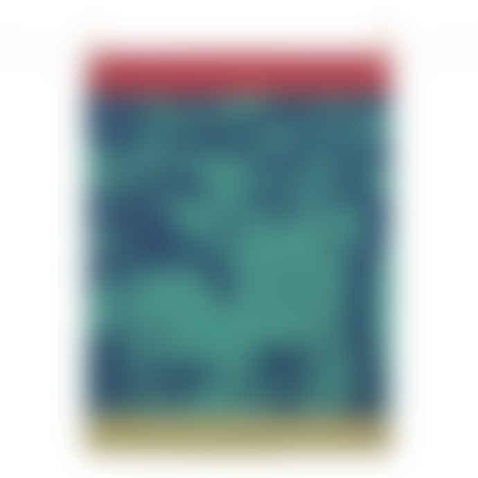 Tissage Moutet Blue Green Jungle Tea Towel