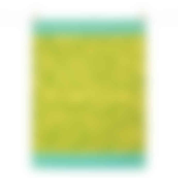 Tissage Moutet Green Yellow Mimosa Tea Towel