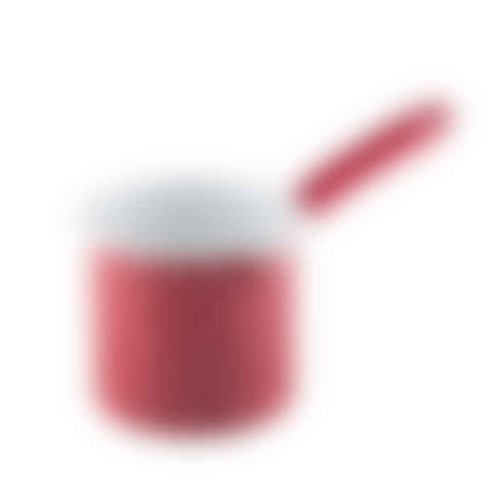 Riess 0.75L Red with White Dots Saucepan with Long Handle and Spout High