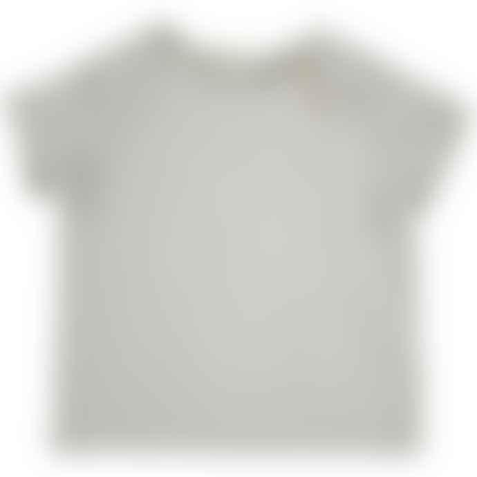 Bean's Barcelona Off White 100% Organic Cotton Clover Flamed T Shirt