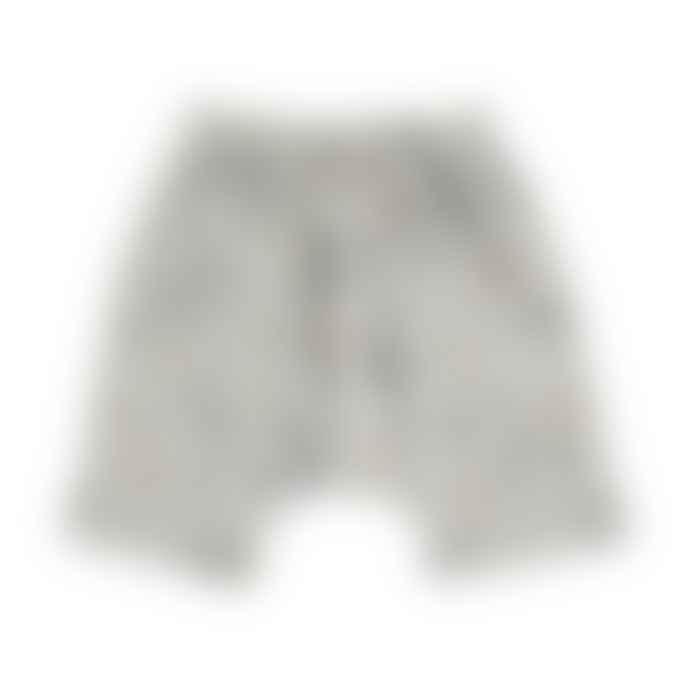 Bean's Barcelona Pearl Gray Geranium Organic Cotton Shorts