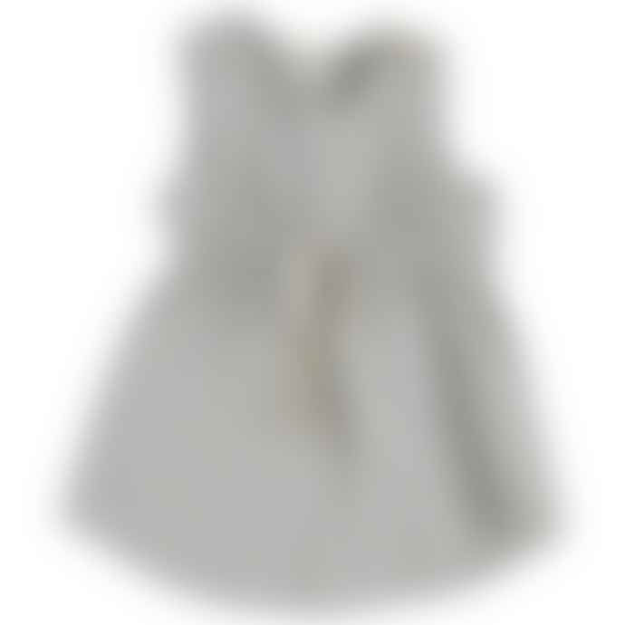 Bean's Barcelona White and Thin Smoke Stripes Jasmine Tank Top Dress