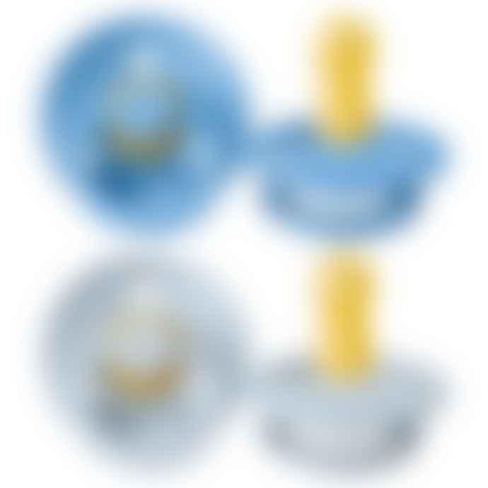 Bibs Set of 2 Sky blue and cloud Design Ergonomics Pacifiers