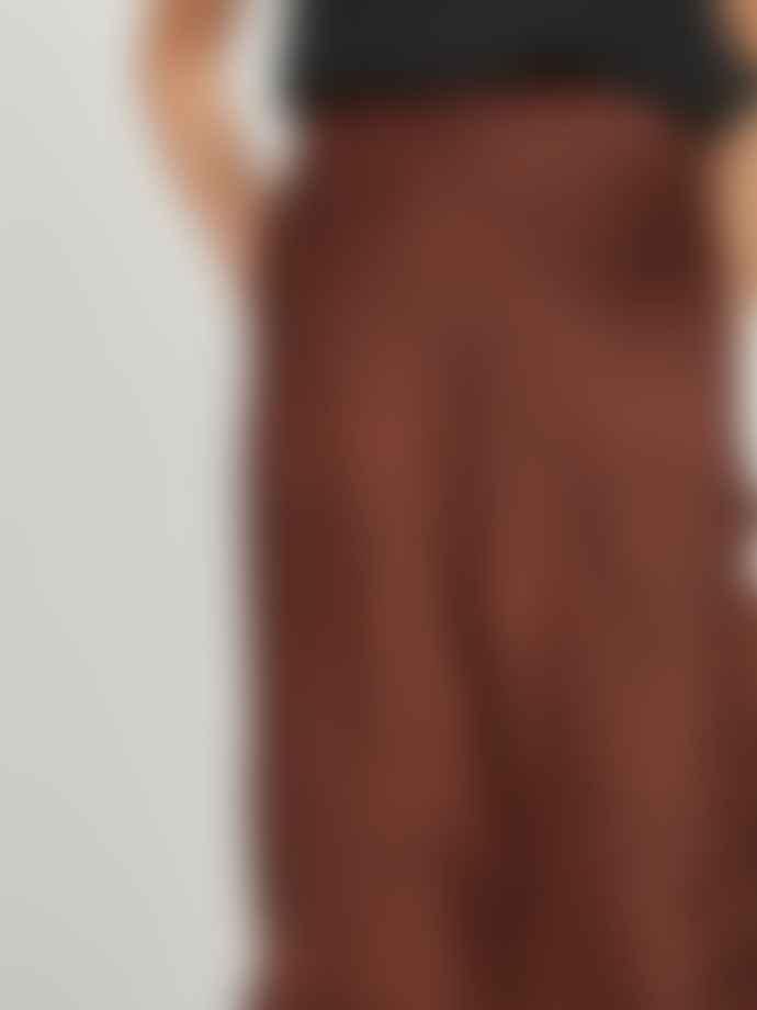 Vila Shiny Midi Skirt Leopard Print