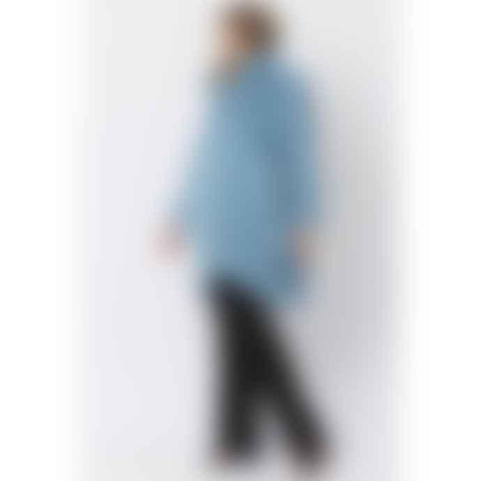 Jayley Oversized Faux  Fur Coat Lux Light Blue