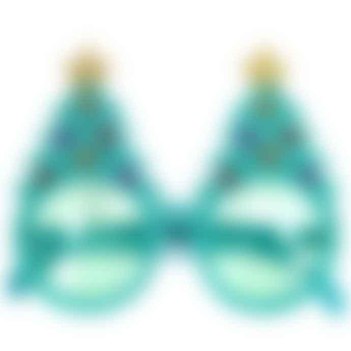 Gisela Graham Pack of 3 Turquoise Christmas Tree Sunglasses