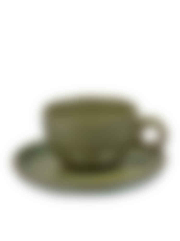 Sergio Herman for Serax Surface - Cappuccino Cup and Saucer Camo Green