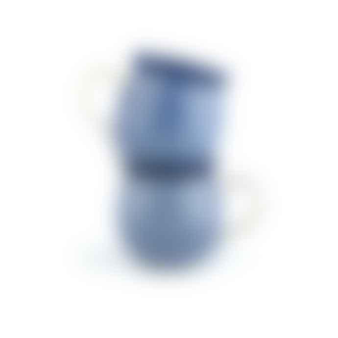 Bunzlau Castle Mug Farmer set of 2 Blue Diamond & Lace