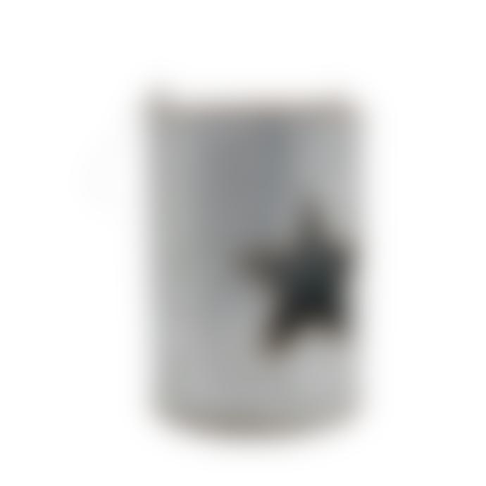 Cornucopia Metal Star Candle Holder