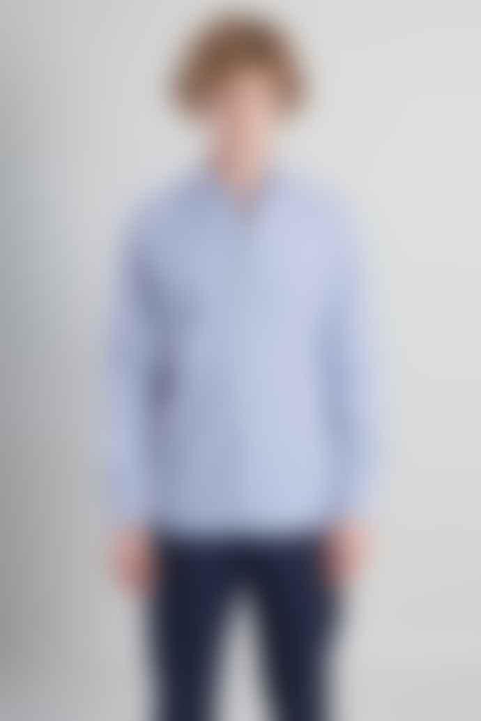 L'Exception Paris Blue and White Striped Shirt