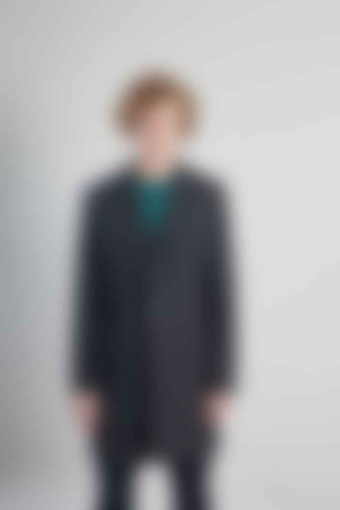 L'Exception Paris Grey Recycled Wool Overcoat