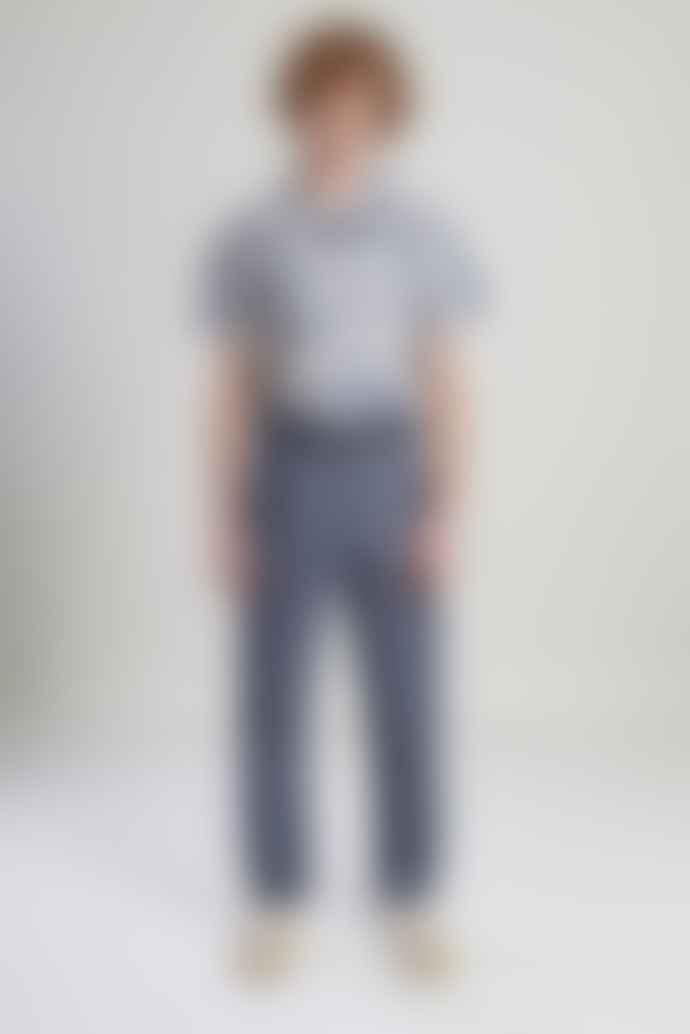 L'Exception Paris Grey and Blue Japanese Suit Trousers