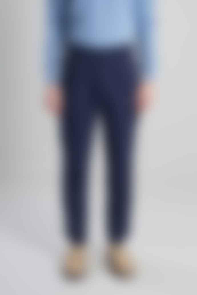L'Exception Paris Navy Blue Darted Suit Trousers