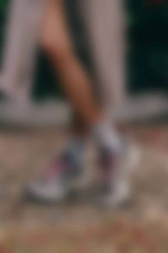 Veja Khaki Oxford Grey Pink Venturi Suede Trainer Womens