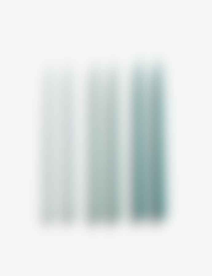 HAY Conical Glossy Candles 6 Pk Ice Blue Arctic Blue Teal
