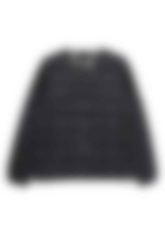 Taion Crew Neck Zip Down Jacket Black