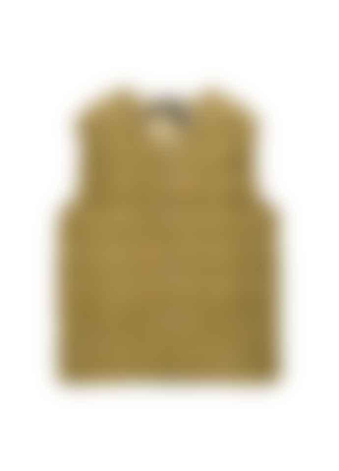 Taion V Neck Button Vest Beige