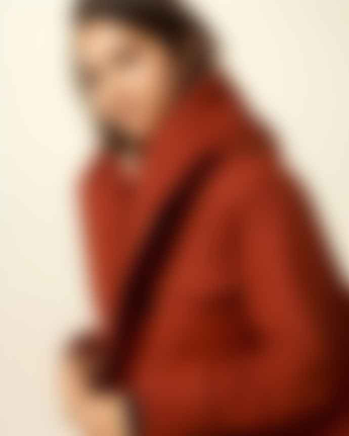 Sessun Brick Red Sandison Short Hooded Parka