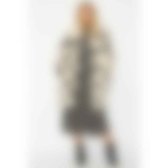 Jayley Statement Faux Fur Coat Lola Black Hearts Cream