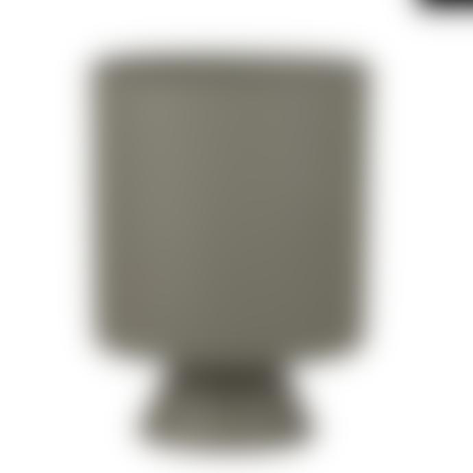 Mica Matte Green Urn Style Pot