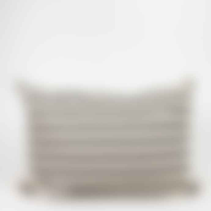 Afroart Black & White Striped Cushion