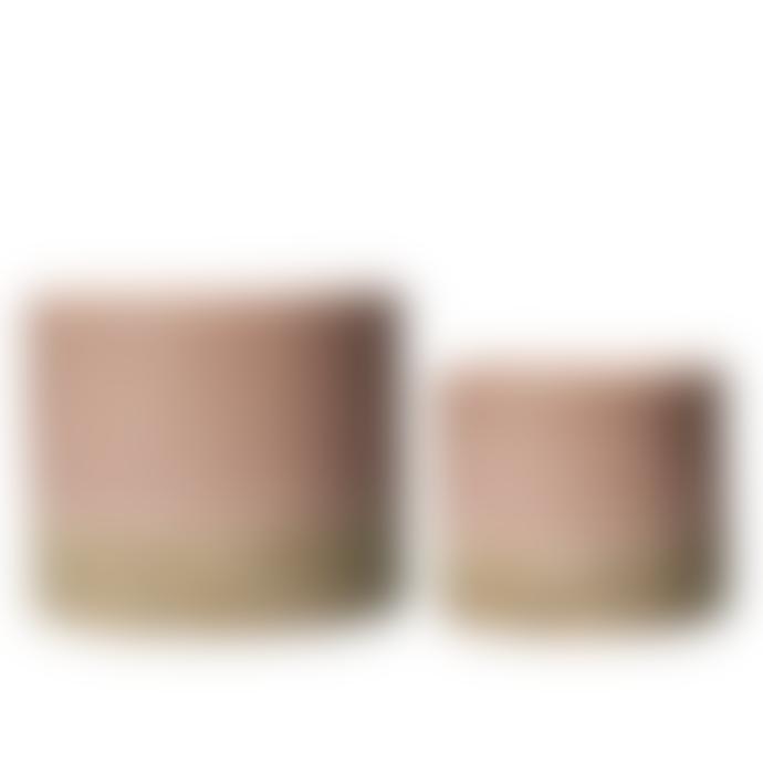 Wikholm Form Pink & Natural Glazed Ceramic Pot - Small
