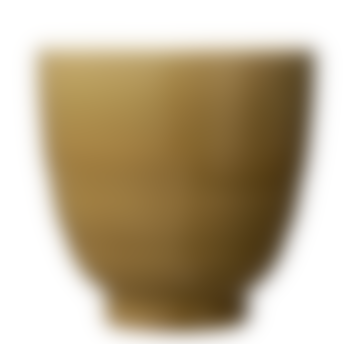 Wikholm Form Mustard Ceramic Glazed Pot