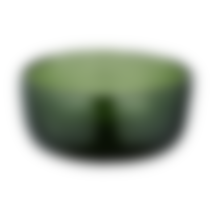Nkuku Emerald Green Glass Olive Bowl
