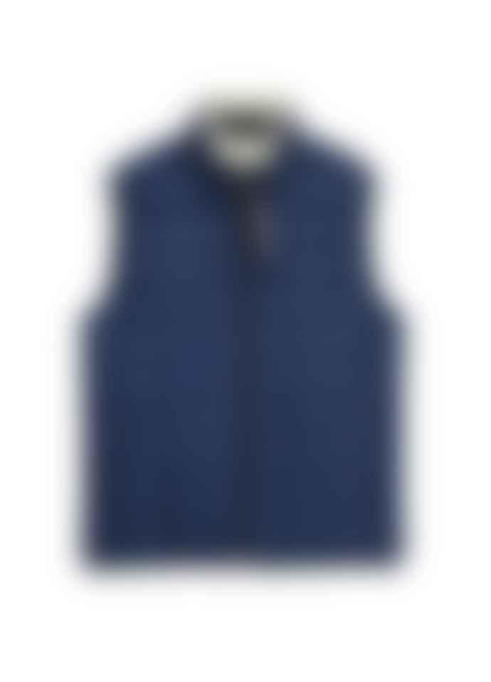 Taion Down X Boa Reversible Vest Navy Ivory