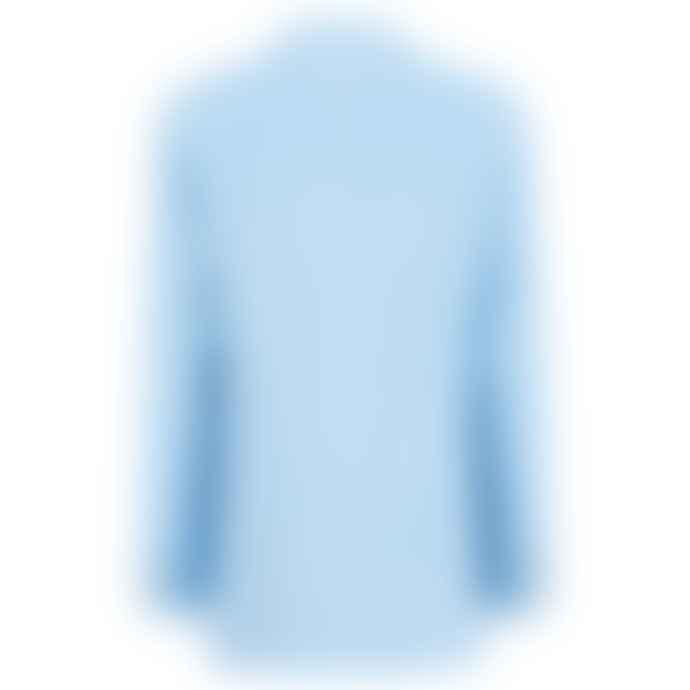 120% Lino Avio Blue Soft Fade Jacket with Stripe