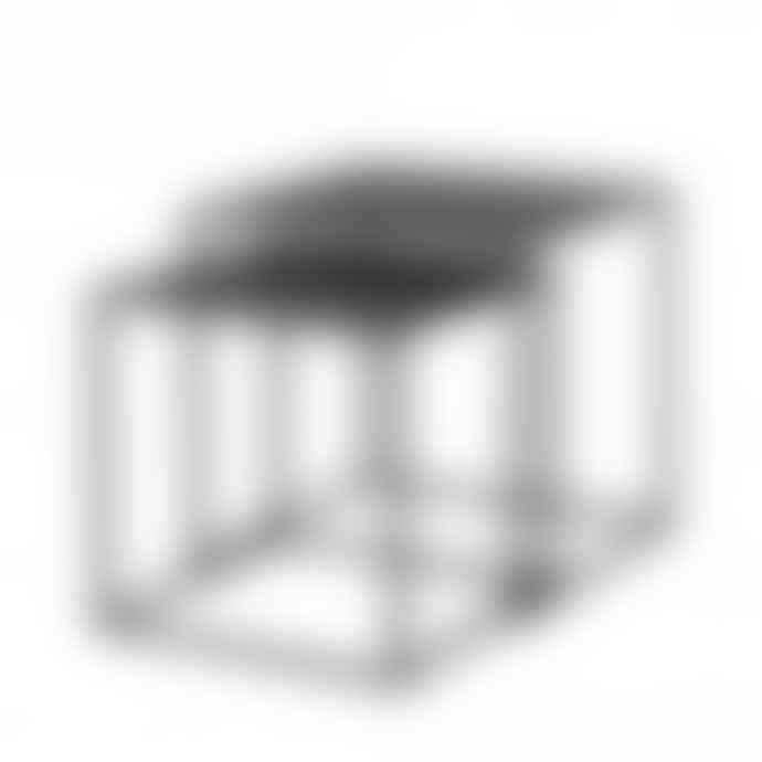 Blomus Set of 2 Black Fera Nest of Side Tables