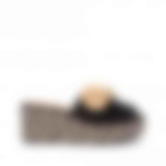 Castaner Black Jute Heels Quimey Wedges